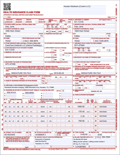 picture relating to 1500 Claim Form Printable identify Aid: Submitting a Paper Assert